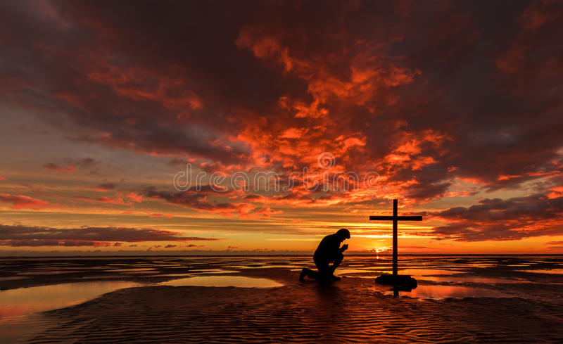 Download Evening Prayers stock image. Image of water, christian - 92322337