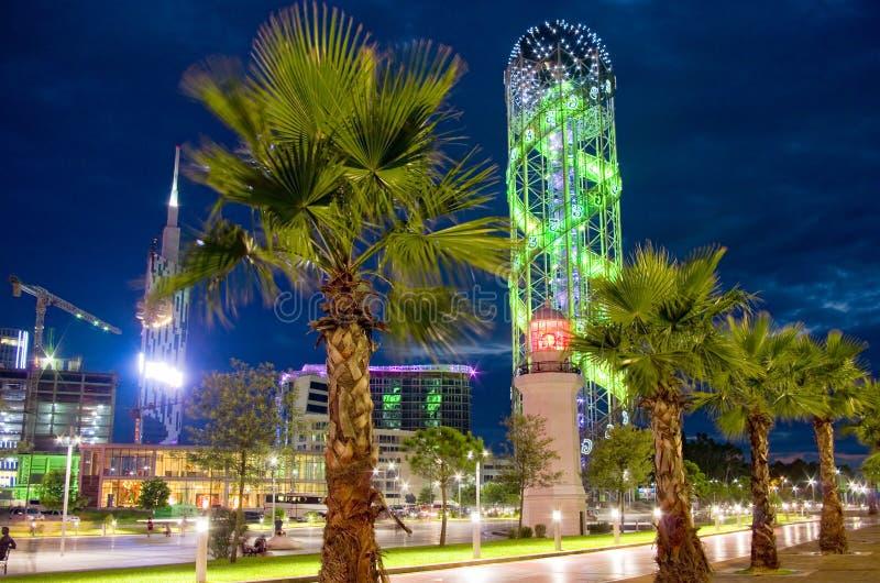 Evening promenade stock image