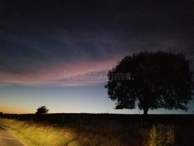 Evening przejażdżkę fotografia stock