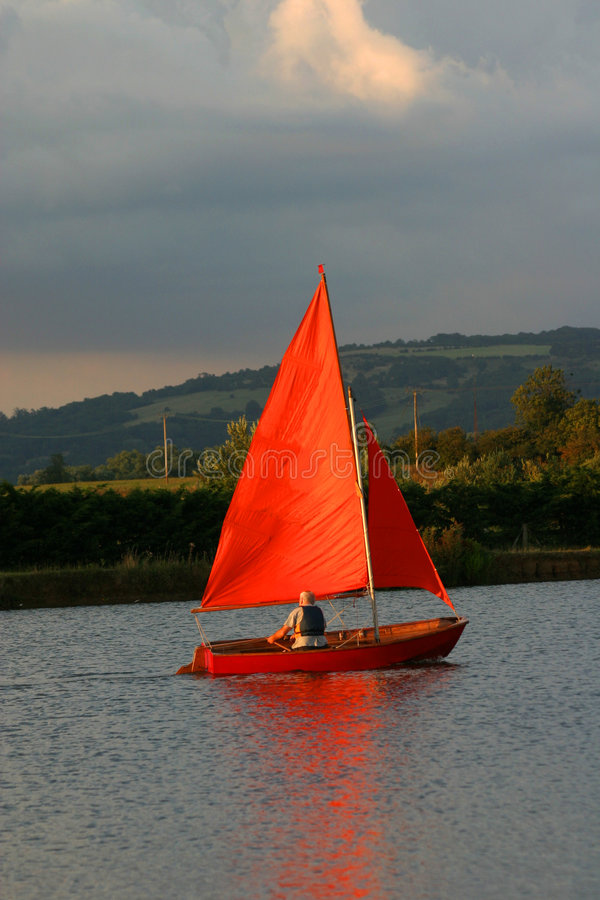 Download Evening sail stock photo. Image of male, sport, reflect - 197600