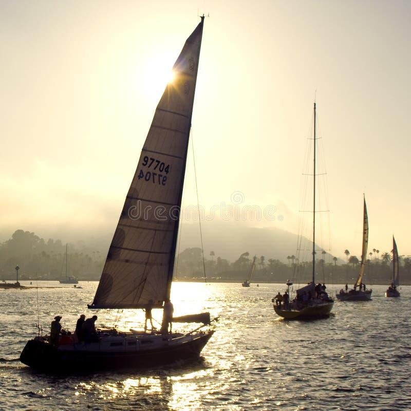 Evening Sail royalty free stock image
