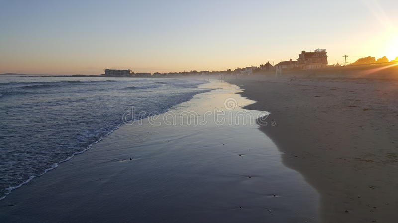 Evening shore view stock photography
