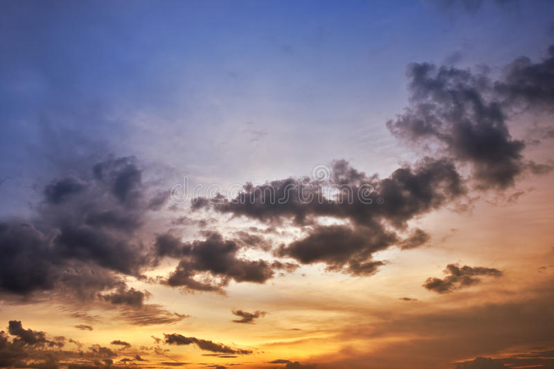 Download Evening Sky stock illustration. Image of yellow, dawn - 21155718