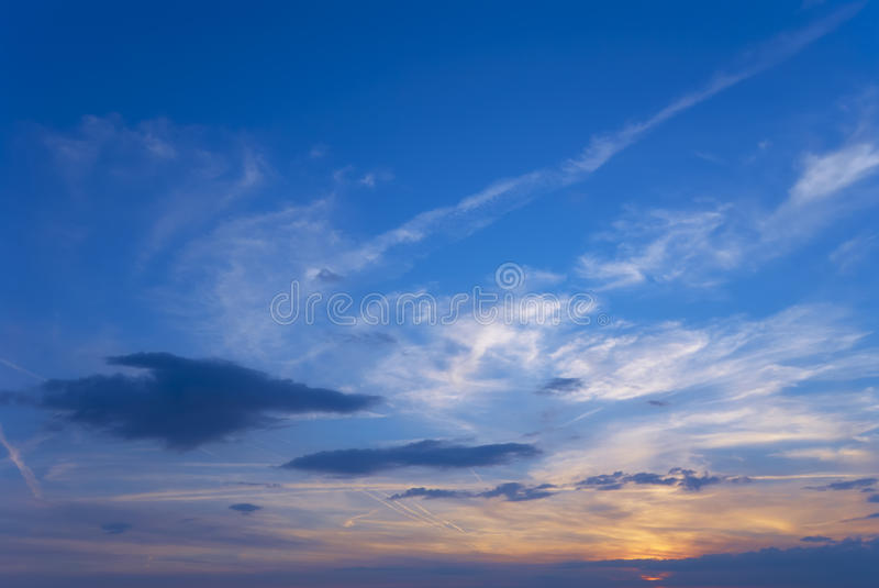 Download Evening sky stock image. Image of light, nobody, dramatic - 27406253