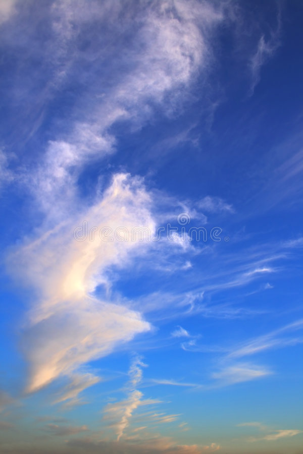 Evening sky with light clouds royalty free stock image