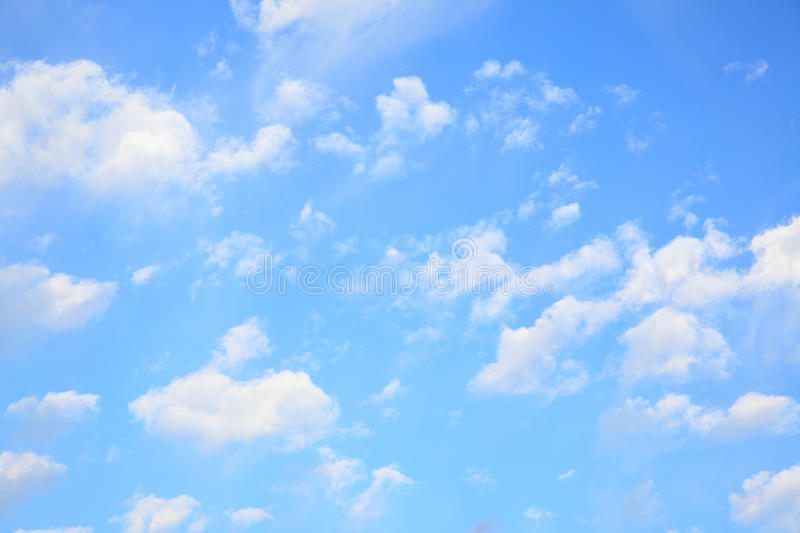 Evening sky. With light clouds - natural background stock photos
