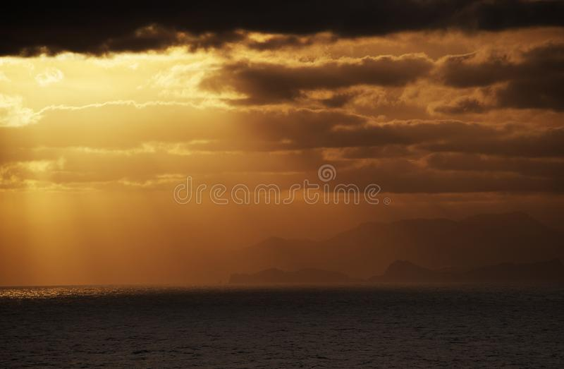 Download Evening sky over an ocean stock photo. Image of peaceful - 26829598