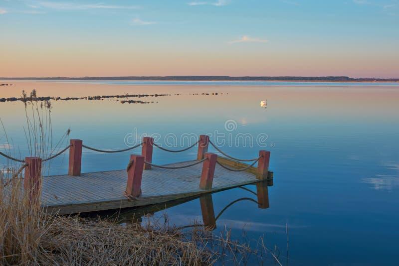 Evening spokój zatoki obraz stock