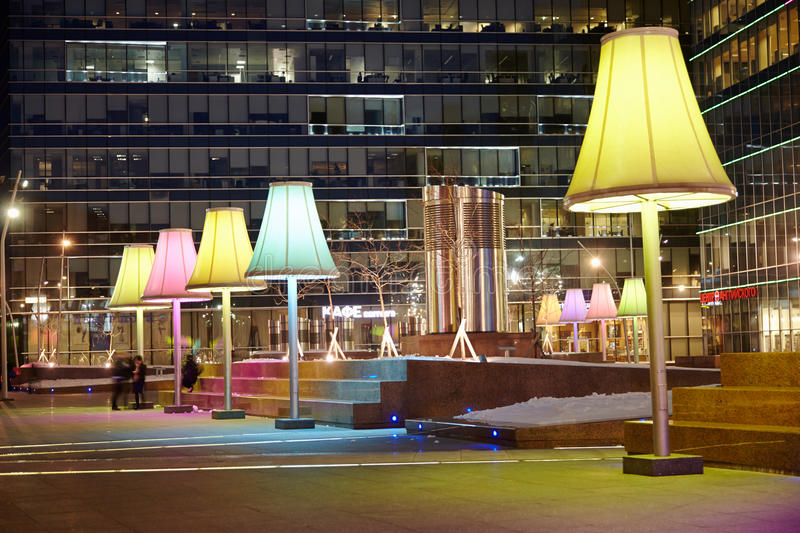Download Evening Square Near To Metropolis Shopping Center Editorial Image - Image: 30423145