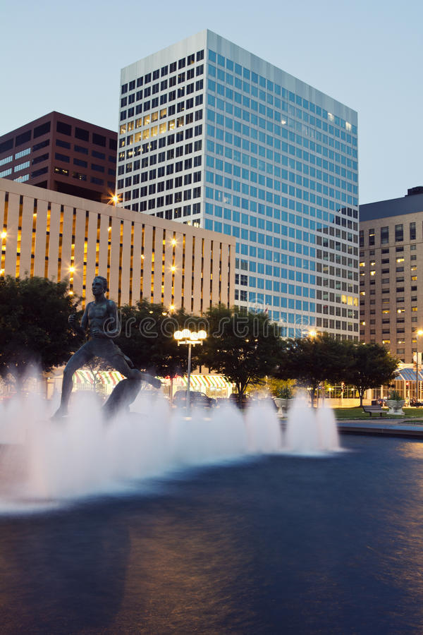 Evening in St. Louis. Evening in downtown of St. Louis, Missouri, USA royalty free stock photography