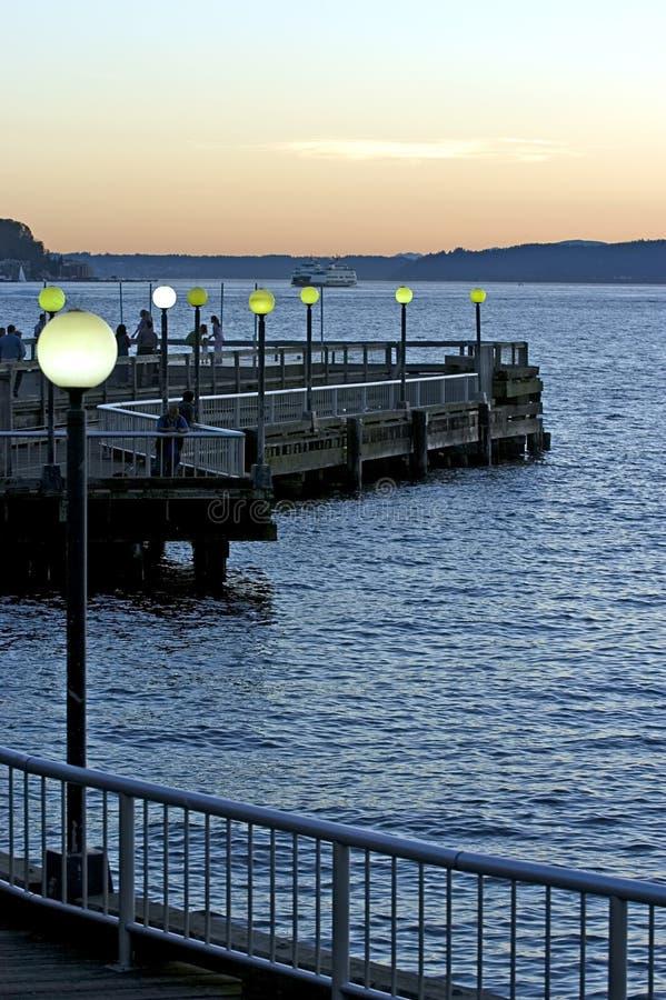 Download Evening stroll stock image. Image of puget, belltown, dusk - 229261