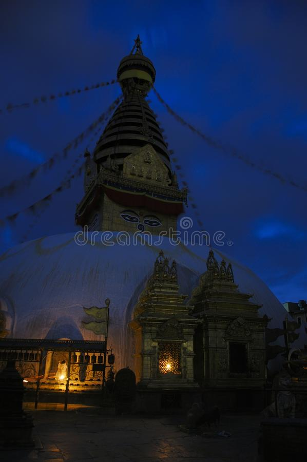 Download Evening At The Stupa Royalty Free Stock Images - Image: 26603659