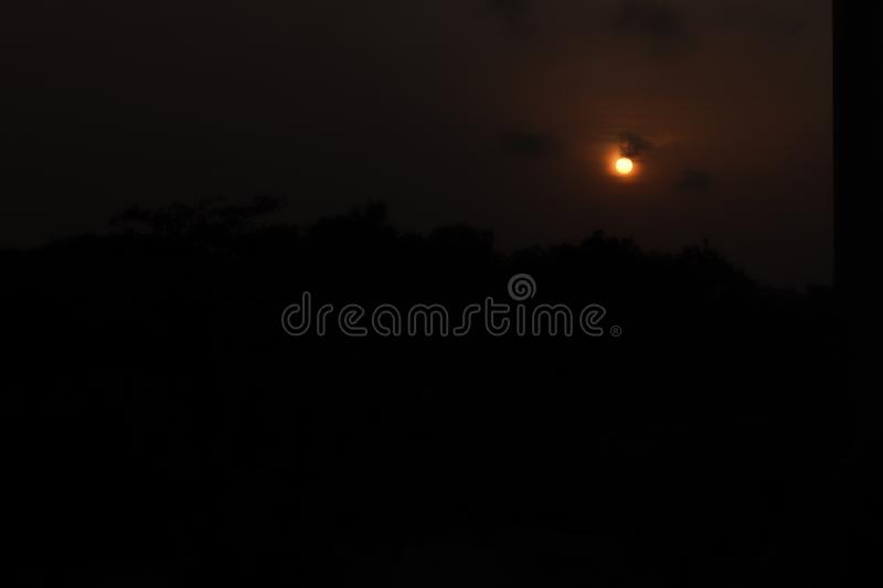 Evening Sun set image. This is a evening sun set image. with Nature. this Picture is Captured for Wallpaper for Home. thi image i took from Bangladesh royalty free stock photos