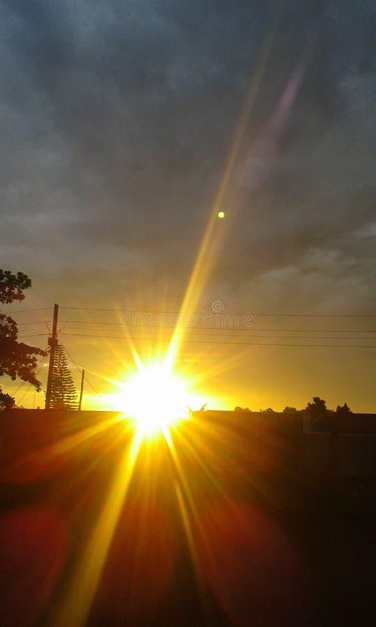 Evening sun set stock images