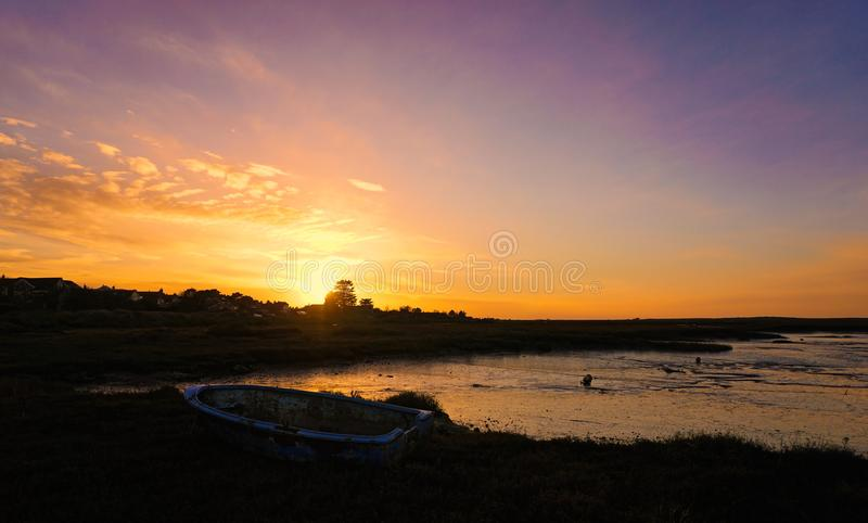 Evening Sunset in north Norfolk. stock photos