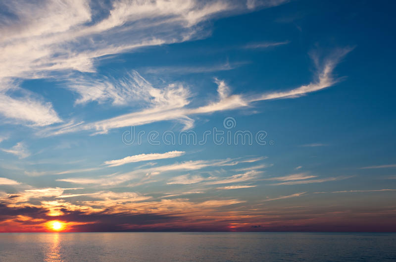 Download An Evening Sunset Over Water Stock Image - Image: 19949433