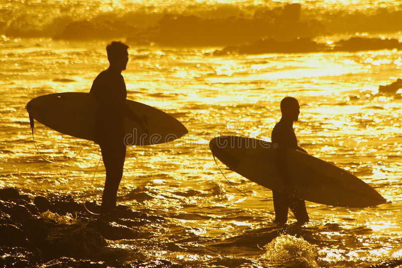 Evening surf royalty free stock photos