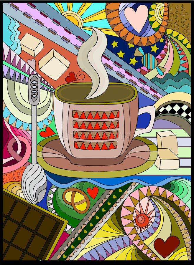 Download Evening Tea stock vector. Image of pretzel, line, stars - 22239466