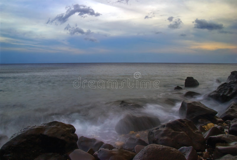 Evening time of Amed royalty free stock photos