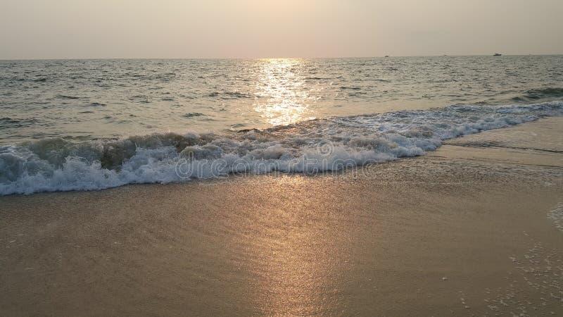 Evening time in beach - Alappuzha Kerala. Evening time in Kerala Alappuzha beach. Its time for Sunset royalty free stock photos