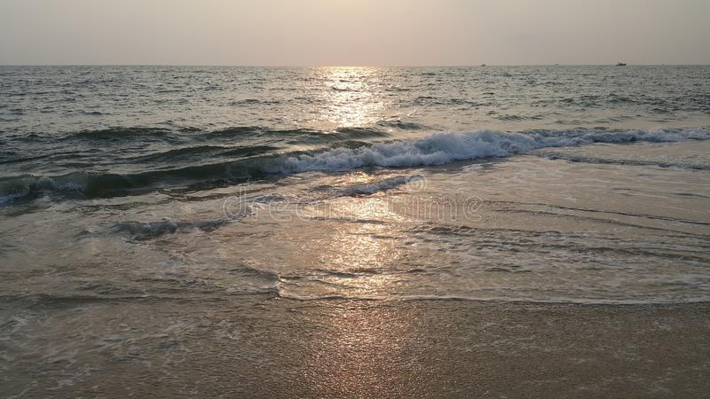 Evening time in beach - Alappuzha Kerala. Evening time in Kerala Alappuzha beach. Its time for Sunset stock photography