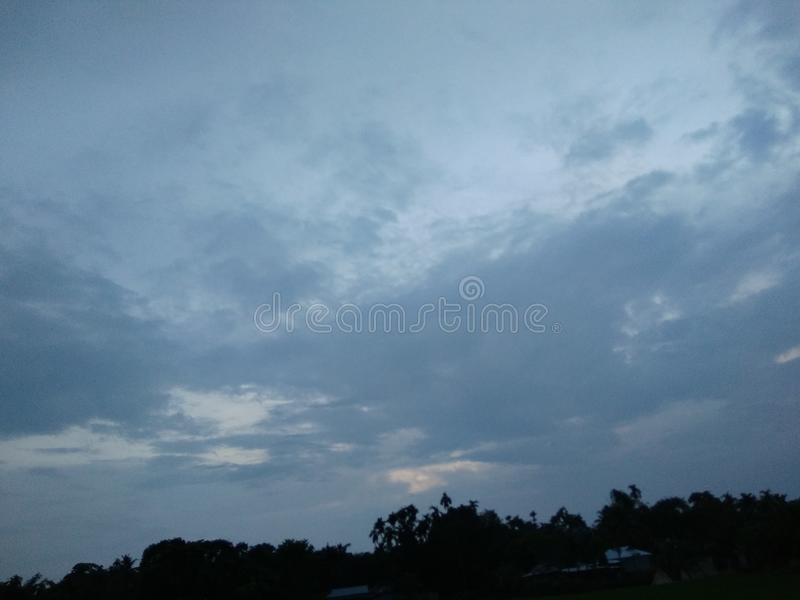 Sky. Evening time click this villege picture royalty free stock images