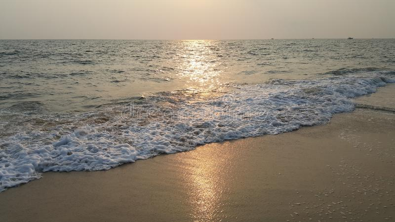 Evening time in beach - Alappuzha Kerala. Evening time in Kerala Alappuzha beach. Its time for Sunset royalty free stock photography