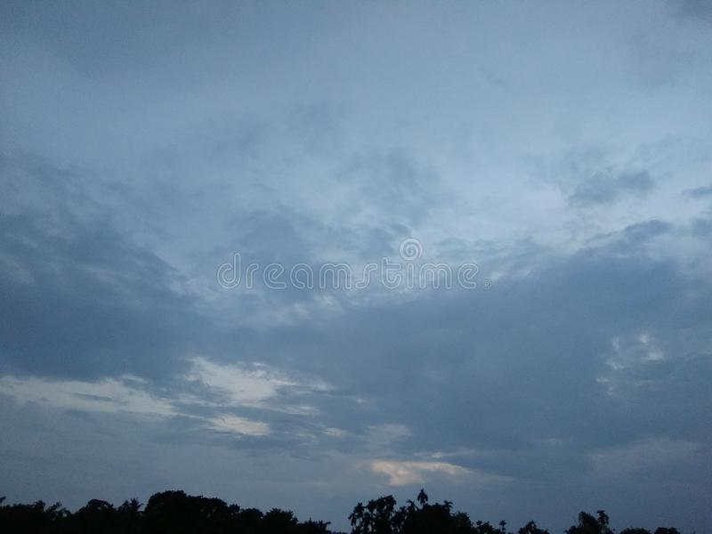 Sky. Evening time sky picture click royalty free stock photos