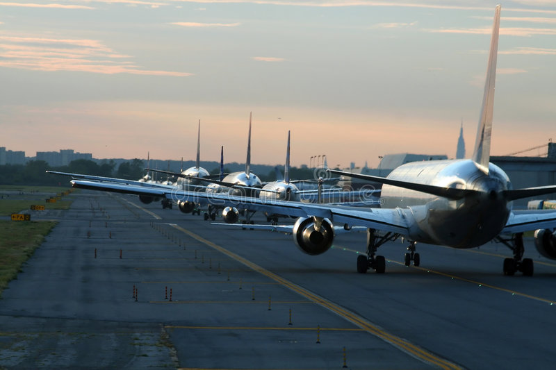 Download Evening traffic at airport stock photo. Image of airplane - 1212542