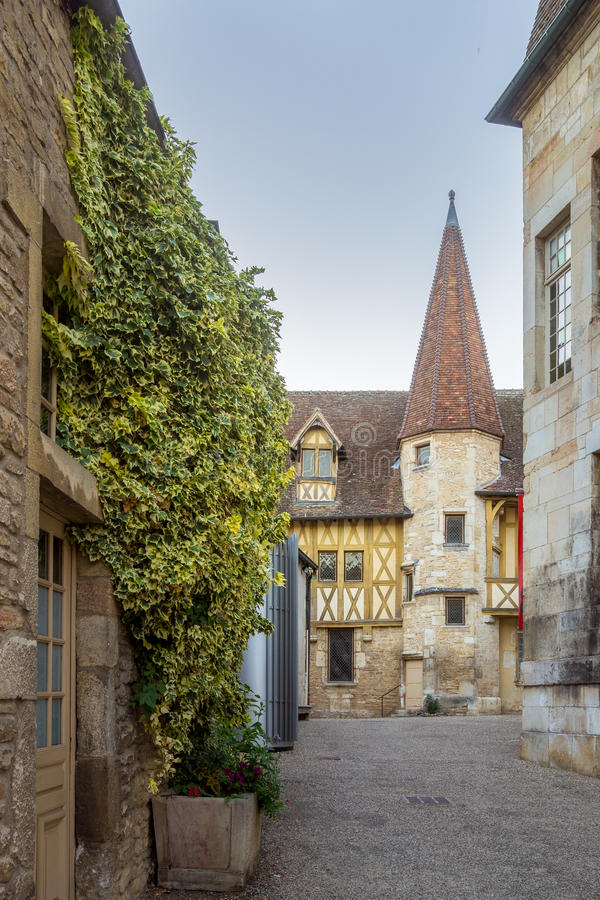 Burgundy Museum of Wine - Beaune, France. Evening View of the Burgundy Museum of Wine - Beaune, France stock photos
