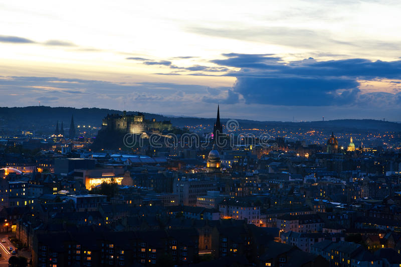 Download Evening view of Edinburgh stock photo. Image of travel - 17074776