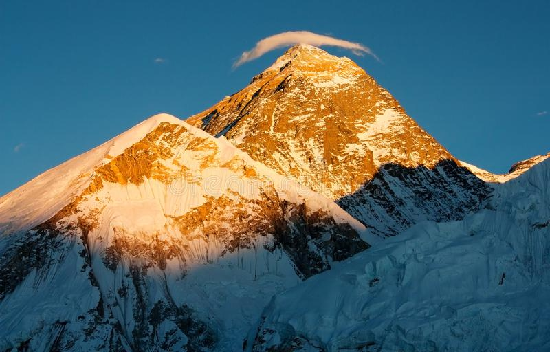 Download Evening view of Everest stock image. Image of himalaya - 23152075