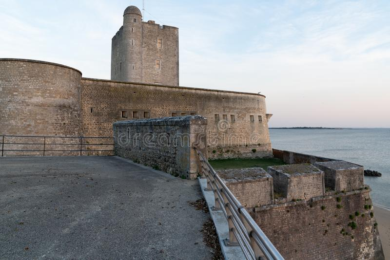 Evening view of Fort Vauban of Fouras in Charente France. An evening view of Fort Vauban of Fouras in Charente France royalty free stock photo