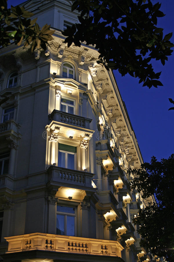 Evening View Of Italian Architecture Stock Photo - Image ...