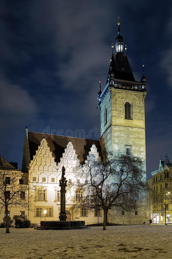 Free Evening View Of New Town Hall In Prague Royalty Free Stock Photos - 27583408