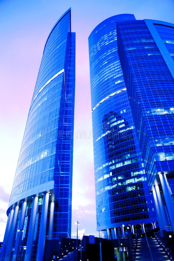 Free Evening View Of Skyscrapers And Rose Sky Stock Photos - 11676373