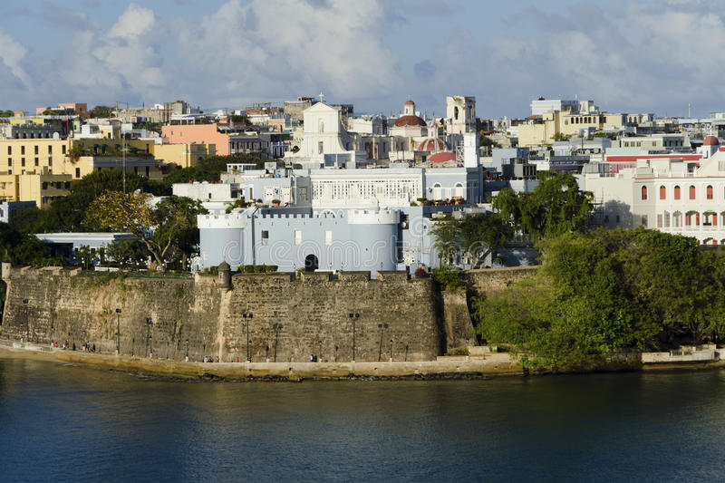 Evening view on old San Juan, Puerto Rico royalty free stock photos