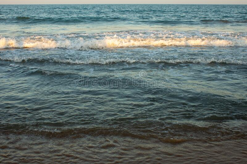 Evening view of Pulicat beach in Pulicat, Tamil Nadu, India. Pulicat town is in north of Chennai along the Bay of Bengal.  royalty free stock photos