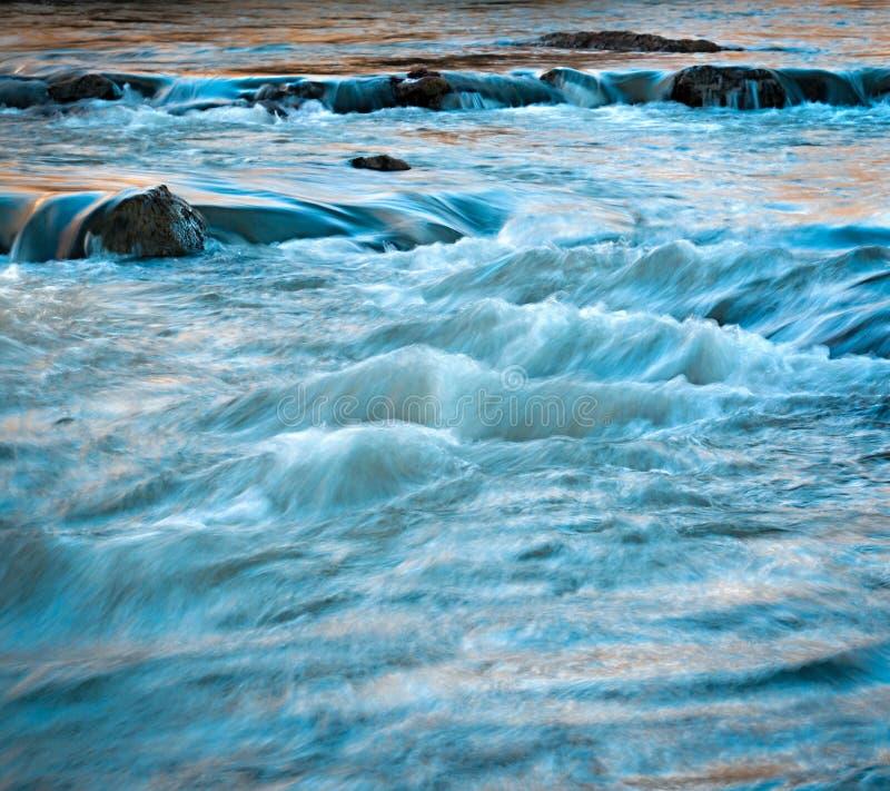 Evening wild river stock photos