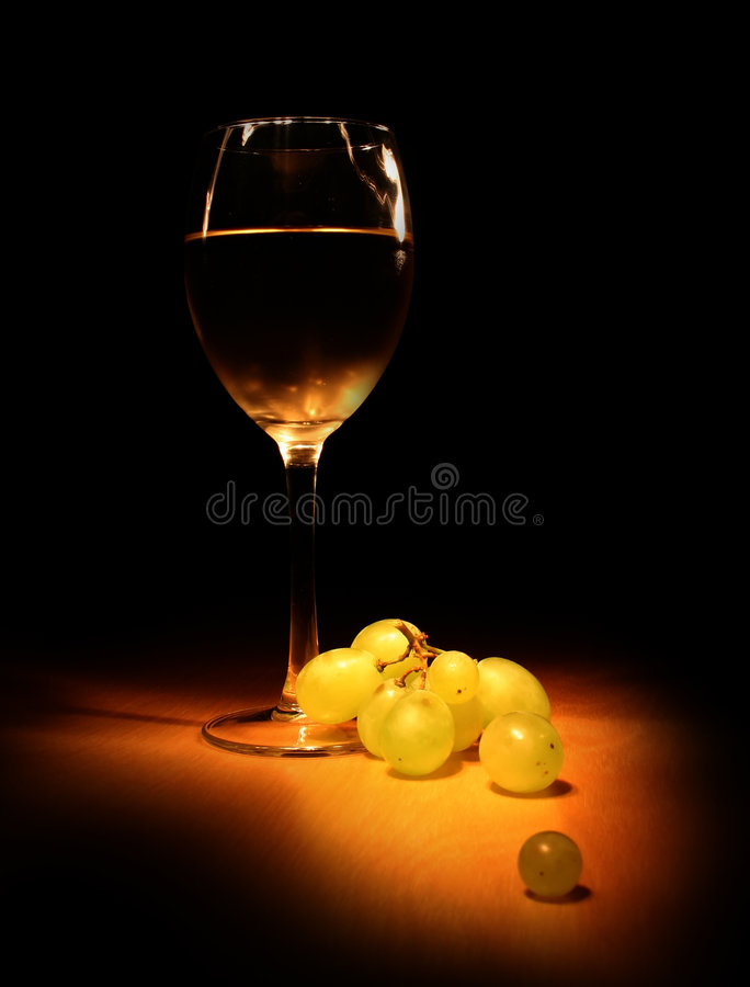 Evening wine still life stock image