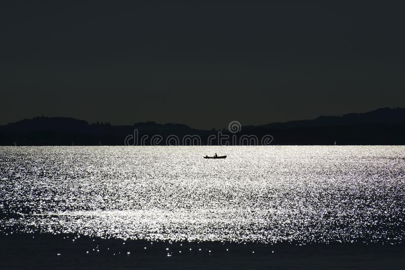 Download Eveningmood at Chiemsee stock image. Image of licht, black - 28355265