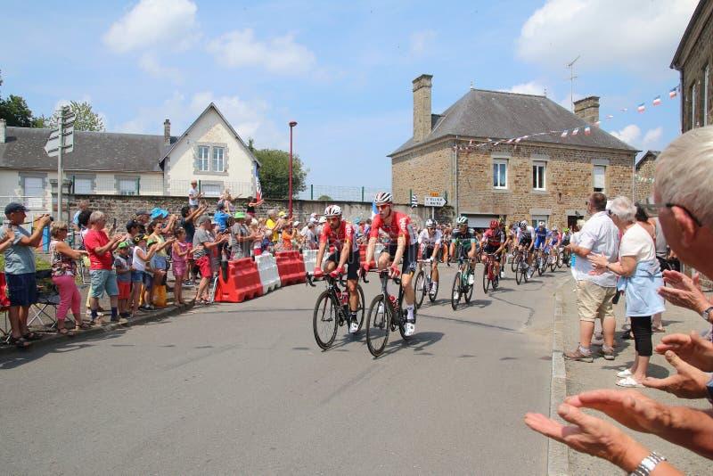 Tour de France cyclists 2018 royalty free stock photos