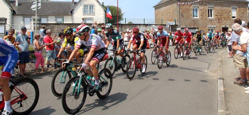 Tour de France cyclists 2018 royalty free stock images
