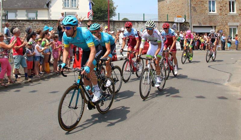 Tour de France cyclists 2018 royalty free stock image
