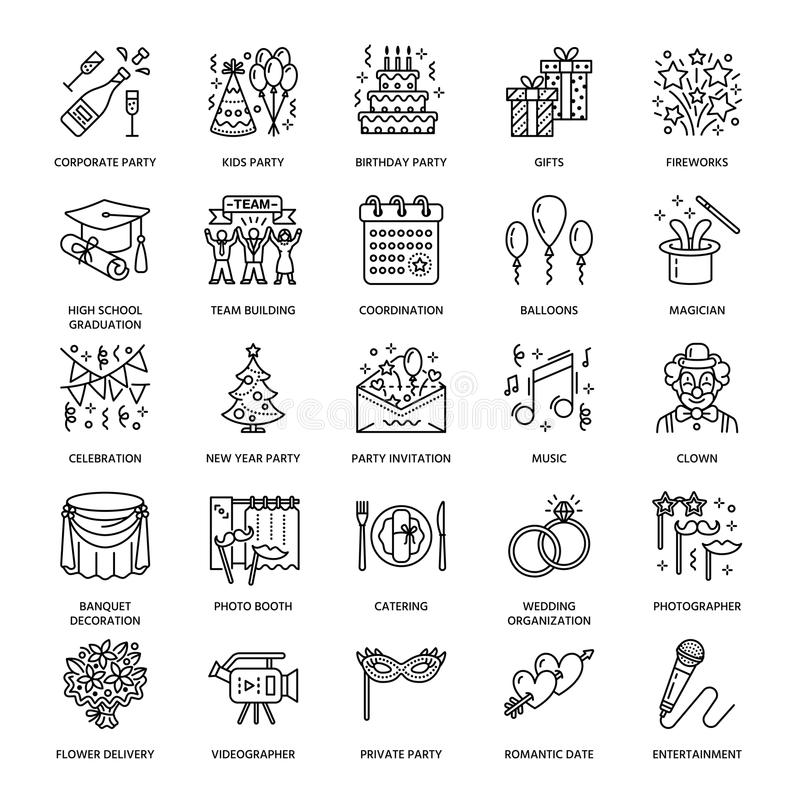 Event agency wedding organization vector line icon party service download event agency wedding organization vector line icon party service catering birthday junglespirit Choice Image