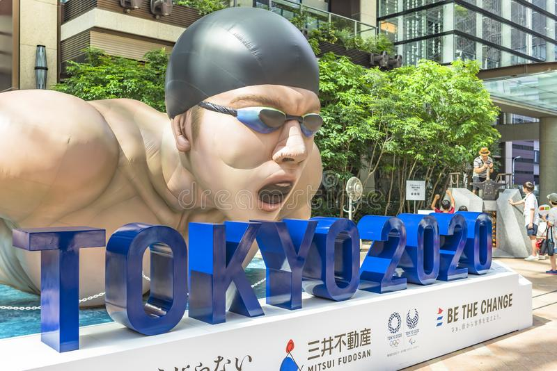 Event `Be the change Tokyo 2020` organized on the theme of the future Olympic Games in Tokyo in 2020. royalty free stock photo