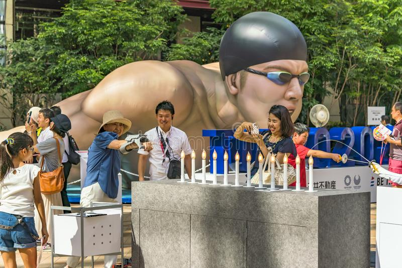 Event `Be the change Tokyo 2020` organized on the theme of the future Olympic Games in Tokyo in 2020. stock photography