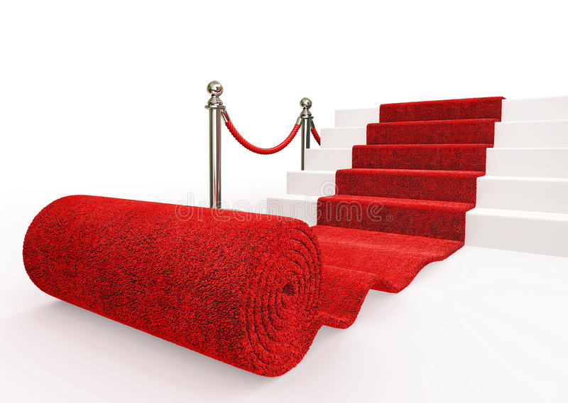 Event carpet. Red event carpet on a white background