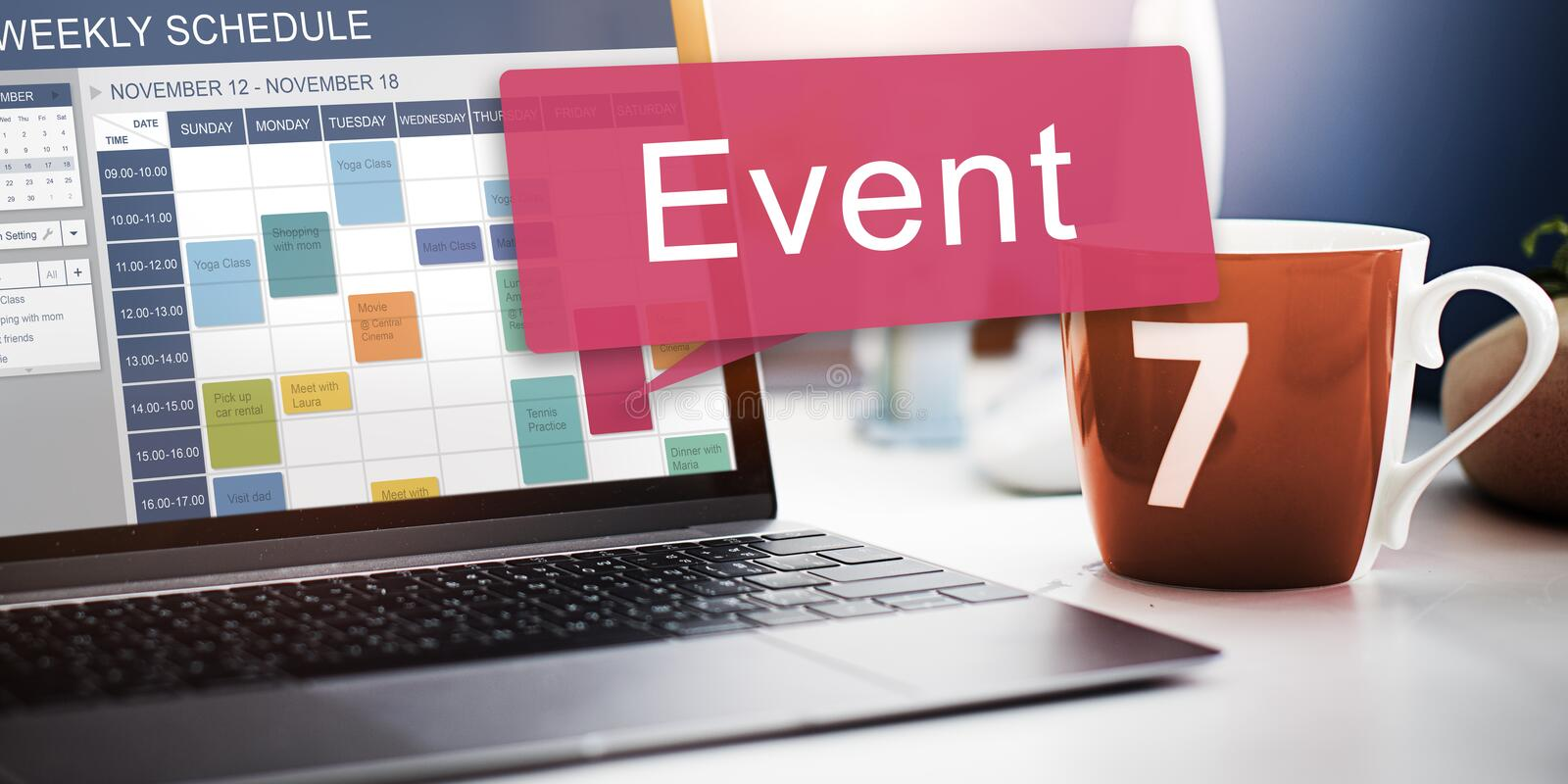 Event Happening Incident Occassion Schedule Concept royalty free stock images