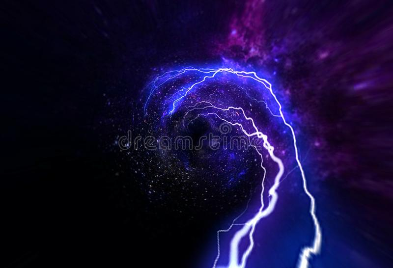 Event Horizon, Singularity, Gargantuan, Hawking Radiation, String Theory, Super Gravity, High Energy, Black Hole Universe all exis. Event Horizon, Singularity stock images
